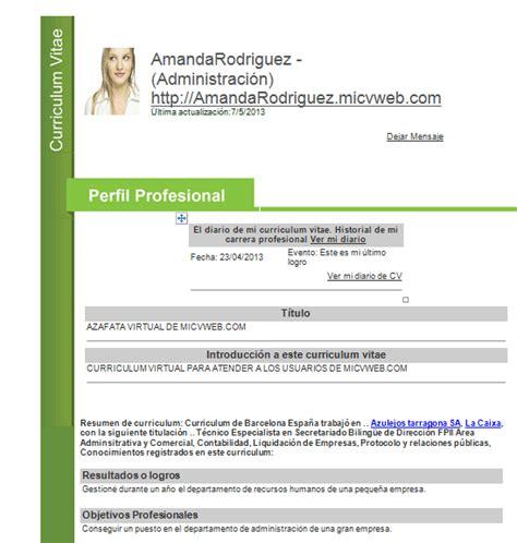 Plantilla De Curriculum Vitae Basico Para Descargar descargar formato de curriculum vitae basico