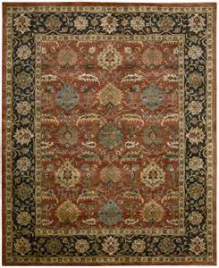 nourison jaipur ja35 brick traditional area rug