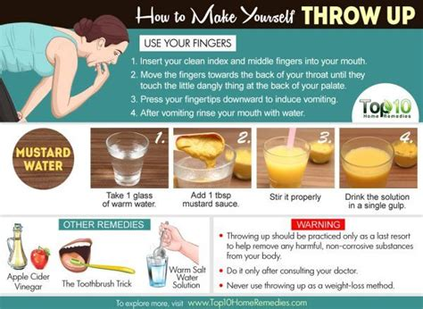 make throw up how to make yourself throw up top 10 home remedies