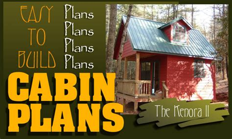 Log Cabin Floor Plans With Loft by Easy To Build Cabin Plans