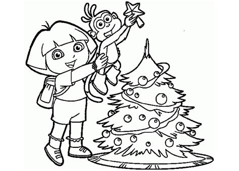 christmas coloring pages of dora the explorer 25 wonderful dora the explorer coloring pages