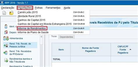 informe de rendimentos 2015 capaf caixa de previdncia informe rendimentos da previdencia 2016