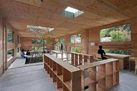 The Nesting House by Nest House Woodland Green Home In Japan Shelters Three