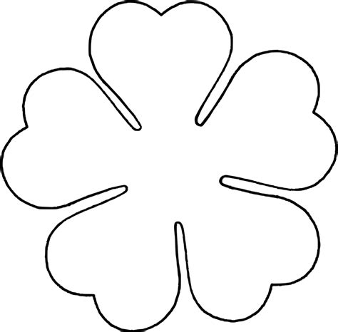 6 petal flower template 6 petal flower template cliparts co