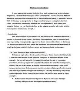 Exles Of An Argumentative Essay by Exle Of A Argumentative Essay
