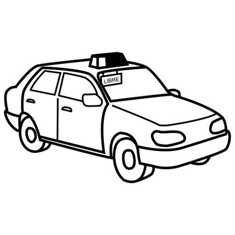 free coloring pages of taxi