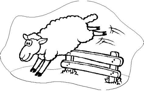 Counting Sheep Coloring Page | april 2011 escape route page 2