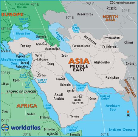 middle east map geographical geography of the middle east and arabian peninsula 7th