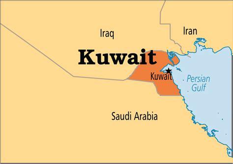 kuwait on a world map capital of kuwait map