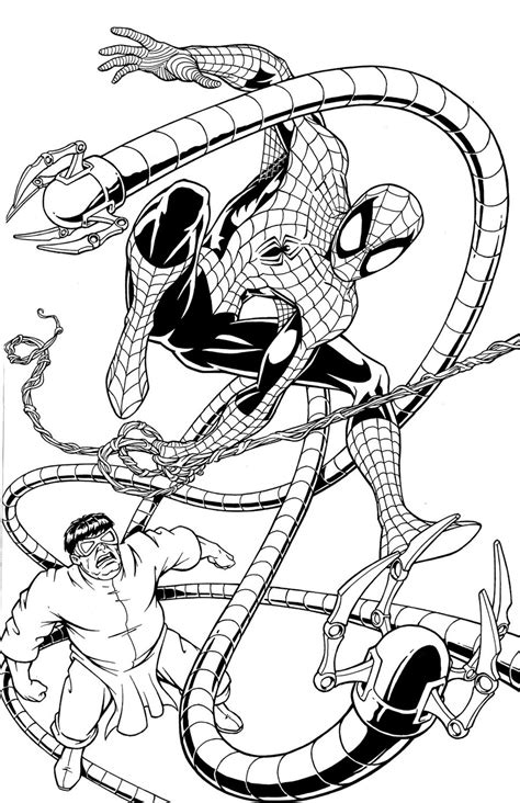 Doc Ock Coloring Pages Coloring Home Doc Ock Coloring Pages