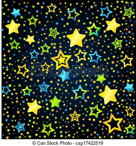 vector clip art of cartoon star colored background