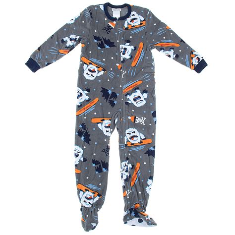 Boys Footed Sleepers by Gray Yeti Footed Pajamas For Boys