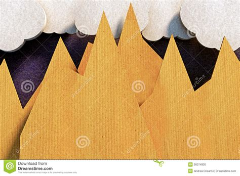 Origami Mountain - origami mountains stock illustration image of high