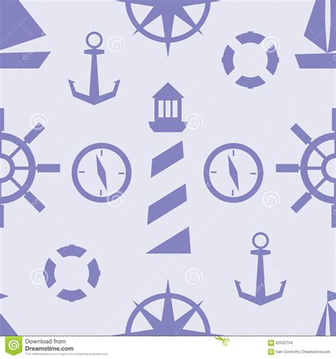 nautical pattern vector vector nautical pattern stock vector image of sail