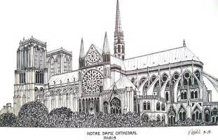 Gothic Tudor Floor Plans notre dame cathedral paris drawing by frederic kohli