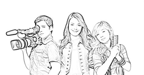 icarly coloring book pages icarly coloring pages coloring pages