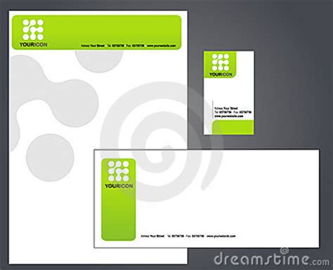 business card letterhead envelope template leaf logo on business card and letterhead stock photography image 21575622