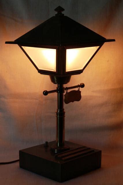 street light l shade vintage brass street l electric desk light w metal