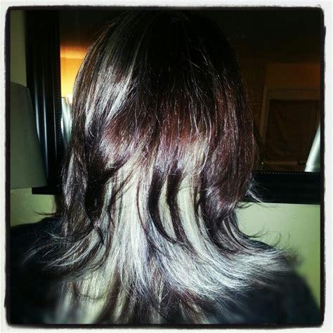 dark hair base with platinum highlights mocha dark brown platinum highlights hair and beauty