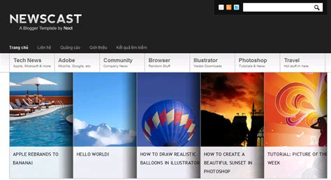 newscast best premium blogger template for share