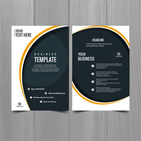 modern brochure template vector free download