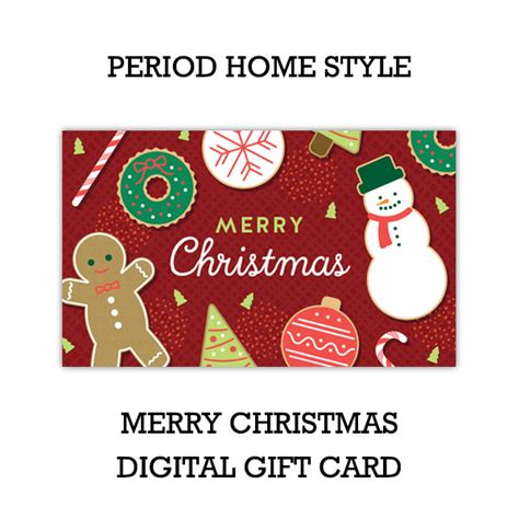 period home style merry christmas gift card digital
