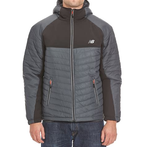 Hooded Puffer Jacket new balance men s hooded puffer jacket bob s stores