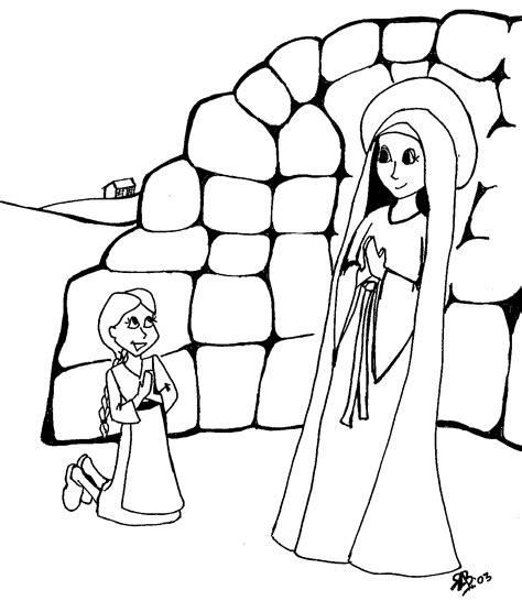 rosary coloring page stunning our lady of the rosary