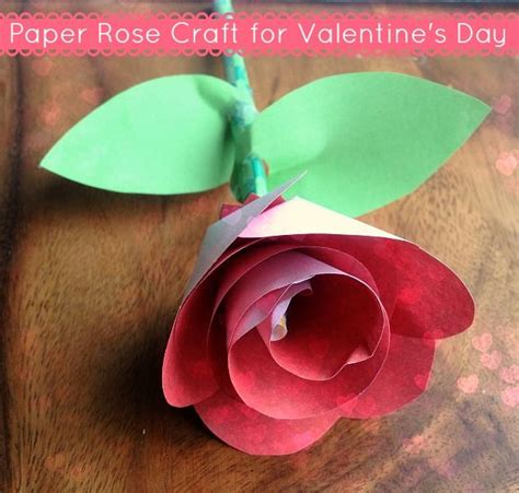 Paper Roses Craft - paper craft for s day flowers from all