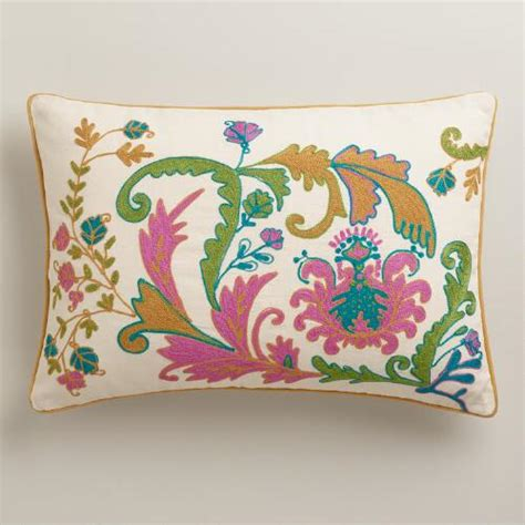 world market pillows sale gold and violet scottish mist lumbar pillow world market