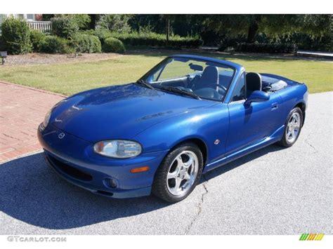 mazda miata blue 1999 sapphire blue mica mazda mx 5 miata 10th anniversary