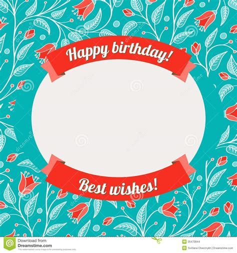 template birthday postcard template greeting cards remarkable card