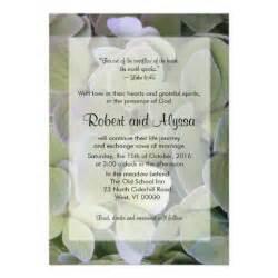 green hydrangea christian wedding invitations 5 quot x 7 quot invitation card zazzle