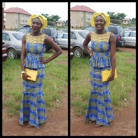 Nigerian Ankara Skirt And Blouse Styles | 9 amazing nigerian traditional skirt and blouse styles