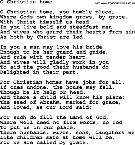 christian song wedding hymns and songs o christian home txt lyrics