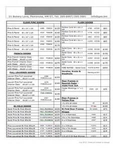price lists bermuda lumber company