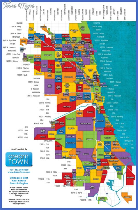 chicago districts map 2016 chicago map toursmaps