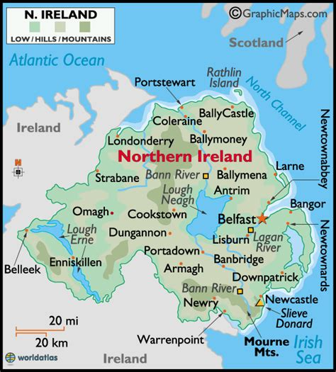 Northern Ireland Birth Records Search Northern Ireland Large Color Map Ancestors Came From Londonderry Heritage