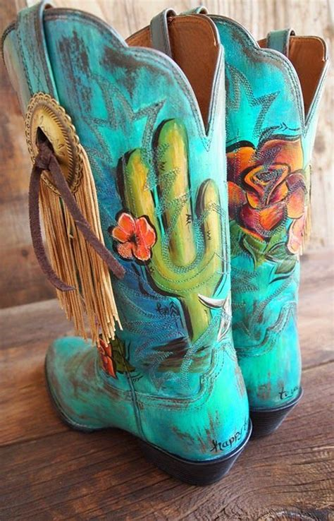 womens cowboy boots hd west custom painted leather