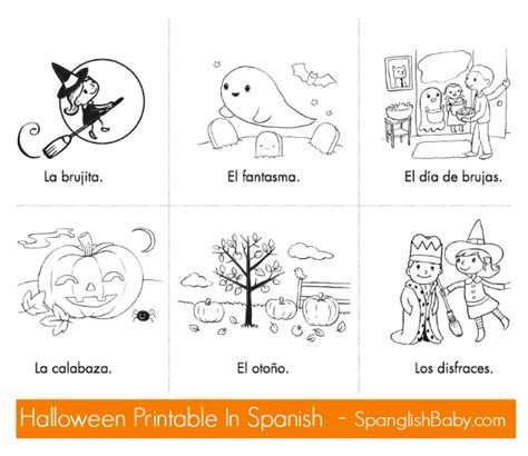 halloween coloring pages in spanish halloween cards to color festival collections