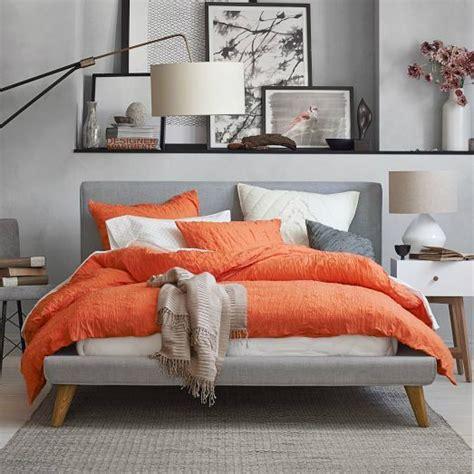 orange and gray bedroom 22 beautiful bedroom color schemes light gray walls
