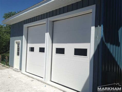 insulated garage doors with windows markham doors wood grain fiberglass doors markham front