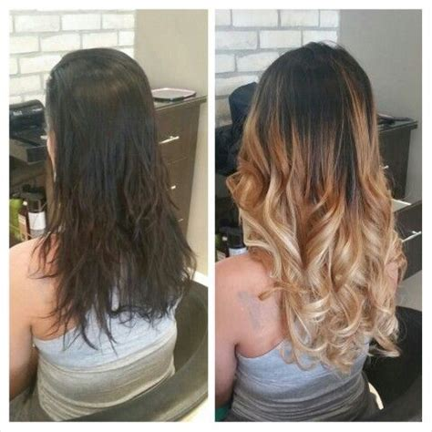 hairstyles with fusion hair extensions before after fusion hair extensions and ombr 233 mj s