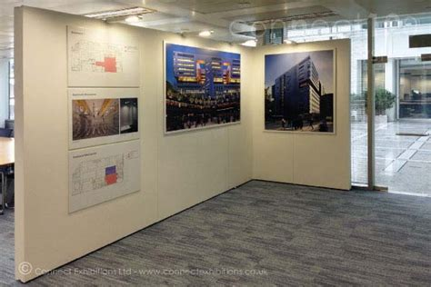 gallery display connect walls exhibition panels mobile temporary