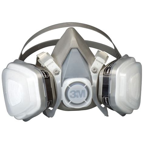 Masker Respirator 3m 07193 large disposible dual cartridge respirator mask assembly
