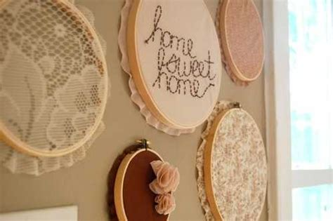 creative ways   home decorations  embroidery hoops