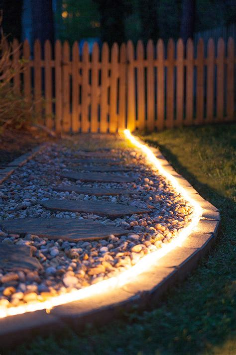 led rope lighting design ideas pathway lighting ideas yard envy