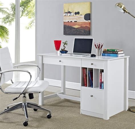 deluxe white wood computer desk with hutch modern deluxe white wood computer desk contemporary desks and