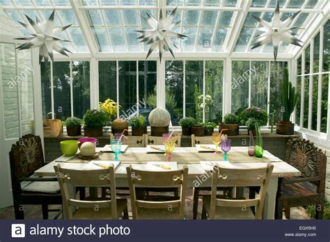 Conservatory Dining Table Dining Table In Conservatory Stock Photo Royalty Free Image 79251116 Alamy