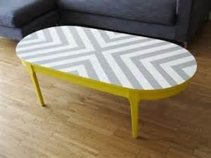 best 25 paint wood tables ideas on bespoke painted upcycled geometric chevron oval wood